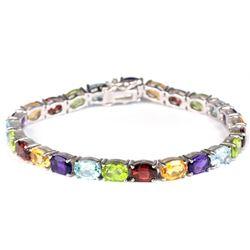 Natural TOPAZ GARNET AMETHYST CITRINE  PERIDOT Bracelet