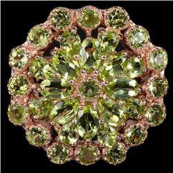 NATURAL AAA GREEN PERIDOT Flower Ring
