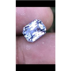 Natural White Sapphire 5.52 Ct  VVS - Untreated