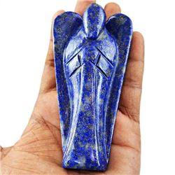 HAND CARVED LARGE 775 CT CERTIFIED  BLUE LAPIS HEALING