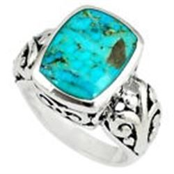 Native American Natural 6 CT Blue Turquoise & Silver