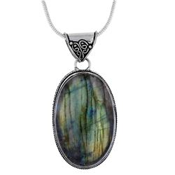 GORGEOUS 105.7 CT  NATURAL LABRADORITE PENDANT