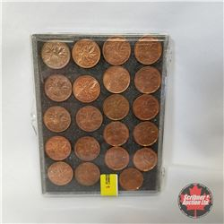 Canada One Cent (Group of 21 Coins): 1970 - 1990