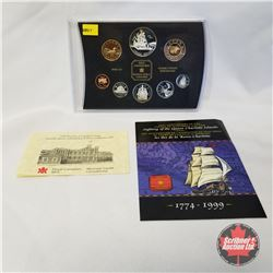 """RCM 1999 Proof Set of Canadian Coinage """"225th Anniversary of the Voyage of Juan Perez and the Sighti"""