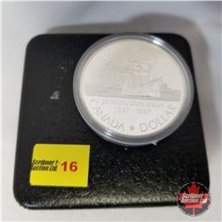 Canada Silver Dollar - Proof : 1587-1987 Detroit de Davis Strait