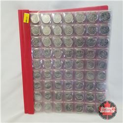 Canada Twenty Five Cent 1999 (Binder Group 185 Coins): March (32); April (27); May (33); June (30);