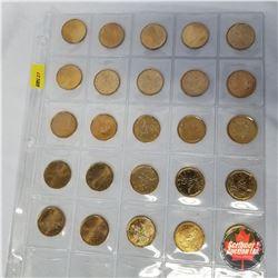 Canada Loonies (Sheet of 25 Coins) : 1994 (5); 1993 (1); 1867-1992 (2); 2004 (10); 2006 (4); 2005 Te