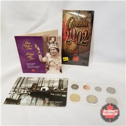 """2002 RCM Grouping (3 Items): 2002 Uncirculated Set; """"Once Upon a Time"""" Keepsake Booklet with 10 Gold"""