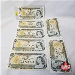 Canada $1 Bills 1973 - Sequential (7): BAH8361213 > BAH8361219