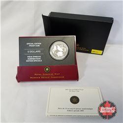 RCM 2005 Special Edition Proof $5 Silver Coin - Saskatchewan Centennial