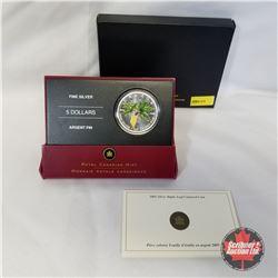 RCM 2005 1oz Fine Silver Maple Leaf Coloured $5 Coin  COA#00431