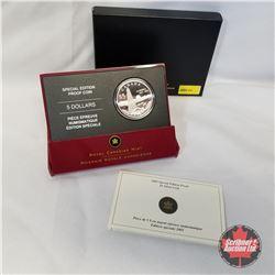 RCM 2005 Special Edition Proof $5 Silver Coin - Alberta Centennial