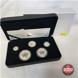 RCM  2004 Silver Maple Leaf Privy Mark Set (5 Coin Set 99.99%) COA#04993