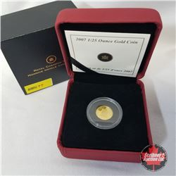"""RCM 2007 1/25oz Gold Coin """"The Wolf"""" (99.99% Pure Gold) COA#03153/20000"""