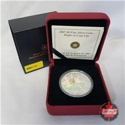 RCM 2007 Fine Silver $8 Coin - Maple of Long Life  COA#00530/15000