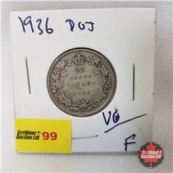 Canada Twenty Five Cent 1936Dot
