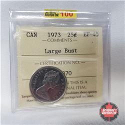 Canada Twenty Five Cent 1973 Large Bust (ICCS Certified EF-45)