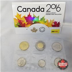 Canada 2016 Uncirculated Set  #17113/60000  (NOTE: 2015 Loonie)