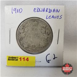 Canada Fifty Cent 1910 Edwardian Leaves