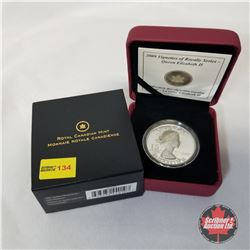 RCM 2009 Vignettes of Royalty Series - Queen Elizabeth II $15 Coin COA#00188/10000