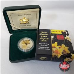 """RCM 2003 Fifty Cent Coin """"Golden Daffodil"""" COA #08965"""