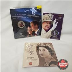 Monarchy Trio Grouping: 80th Birthday of the Queen 2006 Twenty Five Cent; Once Upon a Time Keepsake