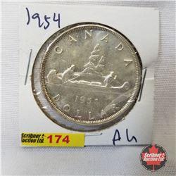 Canada One Dollar 1954