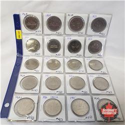 Canada One Dollar - Sheet of 20: 1968; 1969; 1970; 1971; 1972; 1973; 1974; 1975; 1976; 1977; 1978; 1
