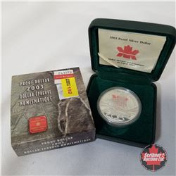 RCM Proof Silver Dollar 2003  COA#50291