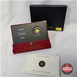 RCM 2006 Fifty Cents 1/25oz Gold Coin - Cowboy  COA#08464