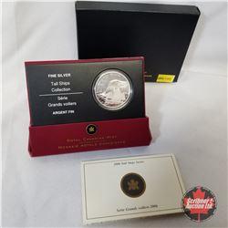 RCM 2006 $20 Silver Coin - Tall Ships Series - Ketch  COA#00410