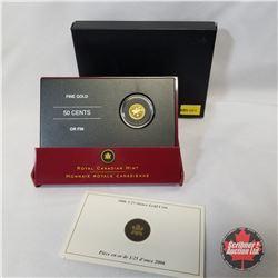 RCM 2006 Fifty Cents 1/25oz Gold Coin - Cowboy  COA#08346
