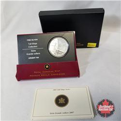 RCM 2007 $20 Silver Coin - Tall Ships Series - Brigantine  COA#00999/16000
