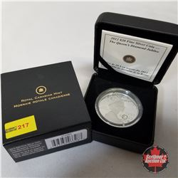 RCM 2012 $20 Fine Silver Coin - The Queen's Diamond Jubilee (with Crystal)  COA#11056/15000