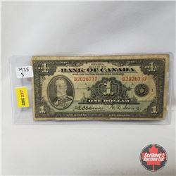 Bank of Canada $1 Bill 1935 B Series