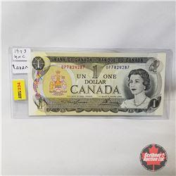 Canada $1 Bill 1973 Radar Note : Lawson/Bouey OP7824287