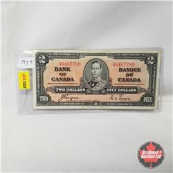 Canada $2 Bill 1937 : Coyne/Towers DR6487789
