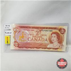Canada $2 Bill 1974 Radar Note: Crow/Bouey AGP4841484