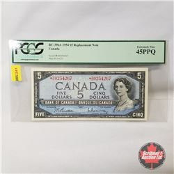 Canada $5 Bill 1954* Replacement : Beattie/Rasminsky *SS0254267  (PCGS Certified Extremely Fine 45PP