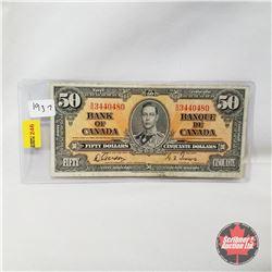 Canada $50 Bill 1937 : Gordon/Towers BH3440480