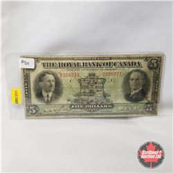 The Royal Bank of Canada - Dominion of Canada : Five Dollars 1927