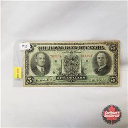 The Royal Bank of Canada - Dominion of Canada : Five Dollars 1933