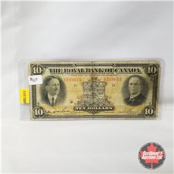 The Royal Bank of Canada - Dominion of Canada : Ten Dollars 1927
