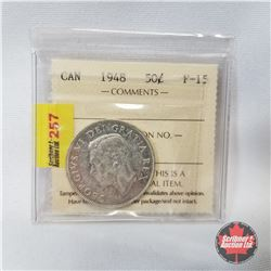 Canada Fifty Cent 1948 (ICCS Certified: F-15)
