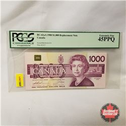 Canada 1988 $1000 Replacement Note (PCGS Certified Extremely Fine 45PPQ)