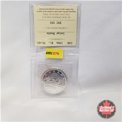 Canada One Dollar 1966  (ICCS Certified PL-65 Large Beads)