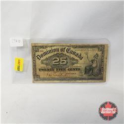 "Dominion of Canada 1900 Twenty Five Cent ""Shinplaster"""