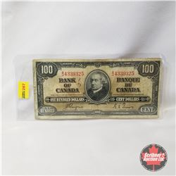 Canada $100 Bill 1937 - Coyne/Towers B/J4339325