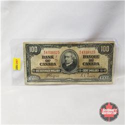Canada $100 Bill 1937 - Coyne/Towers B/J4339325