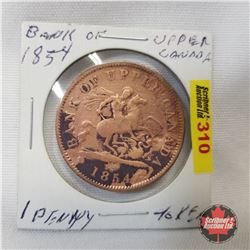 Bank of Upper Canada 1854 One Penny